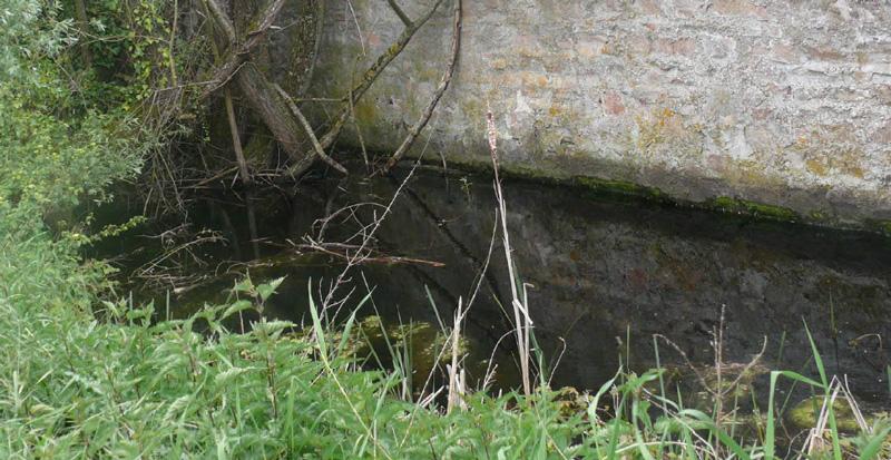 Vestiges du canal alimentant les fossés ?