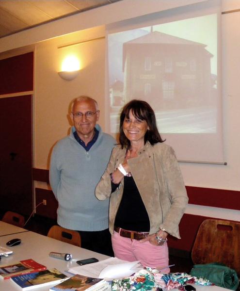 Paul Pelcé & Elisabeth Sirot (photo Alain FABRE, le Progrès)