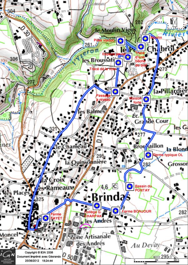 Itinéraire de la randonnée écoles 2012