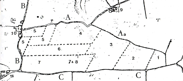 Plan du terrier Gaudon de 1700
