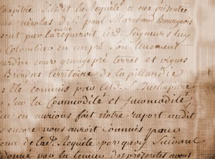 Terrier J. Valentin de 1508-1519 : « …un colombier en un pré. Son tènement jardin cour grange, pré, terres et vignes à Brindas territoire de la Pillardière… »