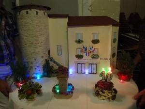 Maquette de Brindas : la tour, la mairie