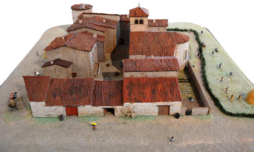 Maquette du bourg de Brindas vers 1840. Côté Ouest : Rue du Vieux Bourg