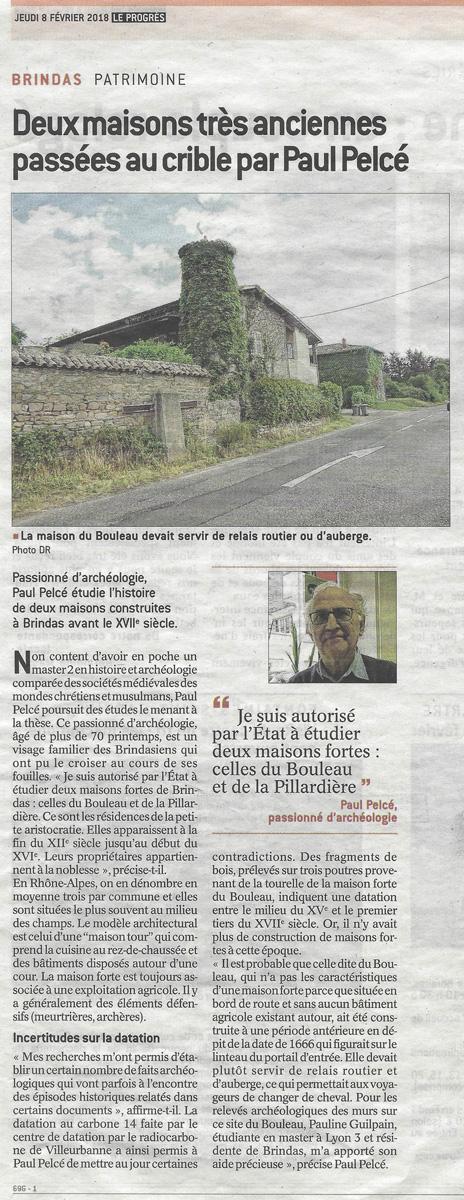 Article du Progrès, 08/02/2018