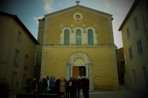Devant l'église Saint Blaise