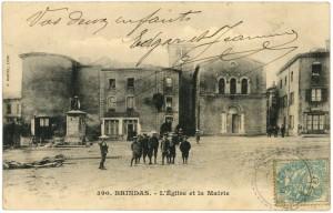 1905_Brindas_Eglise_Mairie_Enfants