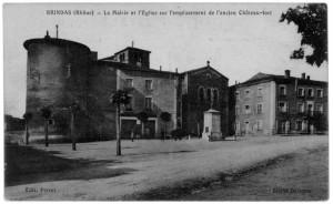 Brindas_Mairie_Eglise_emplacement_Chateau-fort
